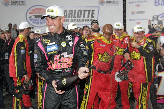 Bowyer Saves Just Enough Fuel to Win at Charlotte