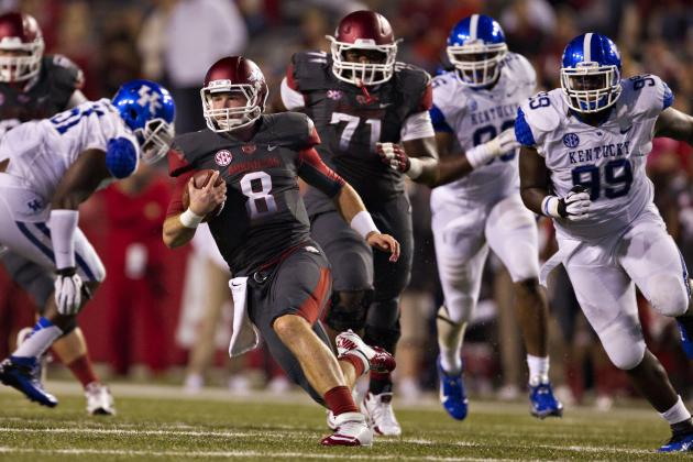 Kentucky vs. Arkansas: Wildcats Embarrassed in Fayetteville 49-7