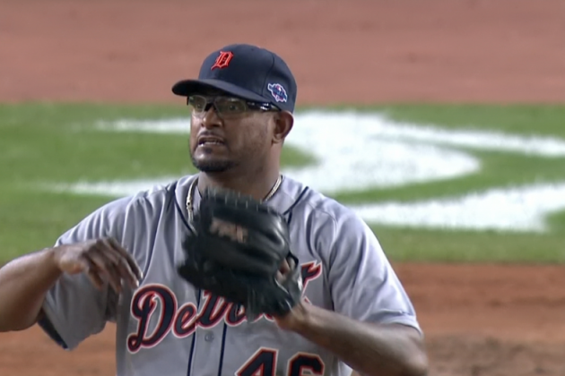 Tigers vs. Yankees: Jose Valverde Reacts to Raul Ibanez's Home Run