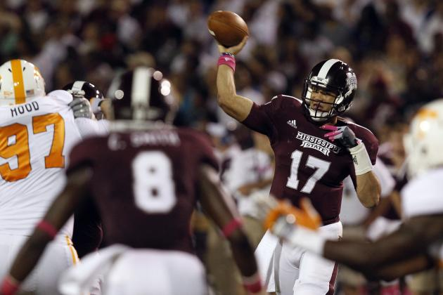 No. 19 Mississippi St. 41, Tennessee 31