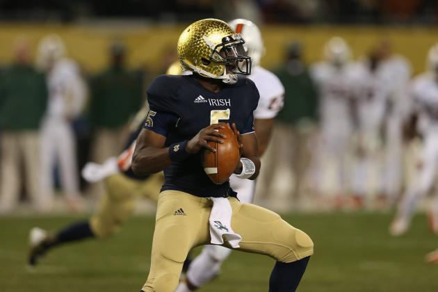 Notre Dame QB Golson Has Concussion, Expected to Play