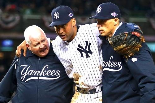 Derek Jeter's Broken Ankle Highlights Demise of Yankees' Key Three