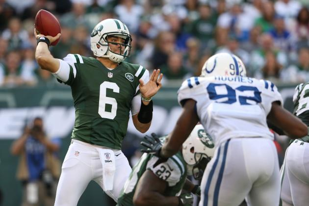 Colts vs. Jets: Run Game Must Continue to Produce to Save Mark Sanchez's Job