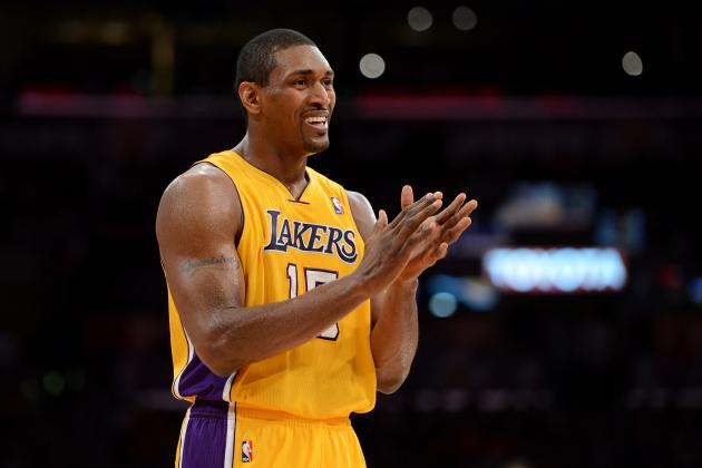 Video: Metta World Peace kisses a girls hand in thestands