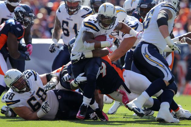 Ryan Mathews to Have a Dominant Day for Chargers Against the Broncos