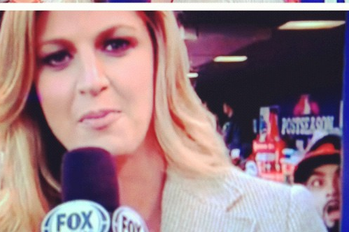 Romo Photobombs Erin Andrews