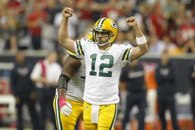 Packers vs. Texans: Aaron Rodgers Throws 6 TDs in 42-24 Green Bay Win
