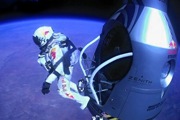 Felix Baumgartner's Red Bull Stratos Jump Breaks Records and Electrifies World