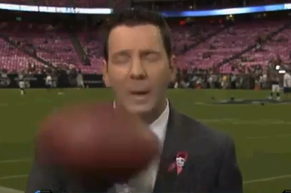Reporter Ian Rapoport Gets Smacked On The Sideline With a Football