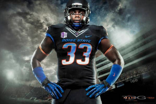 Boise State's Awesome Blackout Unis
