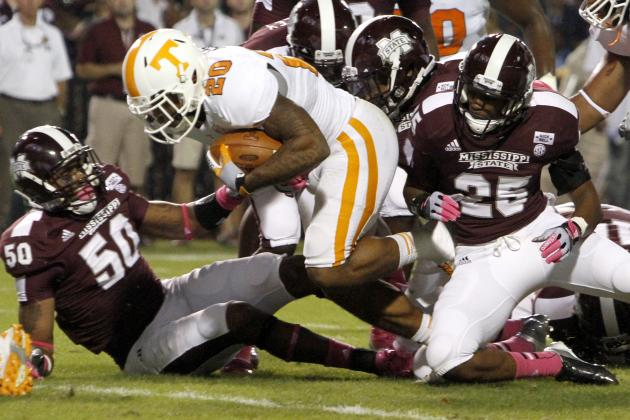 Alabama vs. Tennessee: Vols Don't Stand a Chance with RB Depth Issues