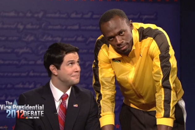 Usain Bolt Sizzles in SNL Cameo During Hilarious Vice Presidential Debate