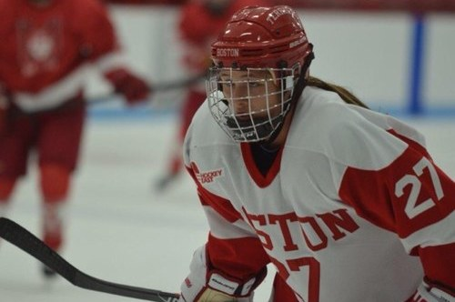 Jordan Juron Contributes 2 Points in Terriers' Interleague Win over McGill