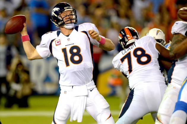 Denver Broncos Stun San Diego Chargers 35-24 as Peyton Manning Shines