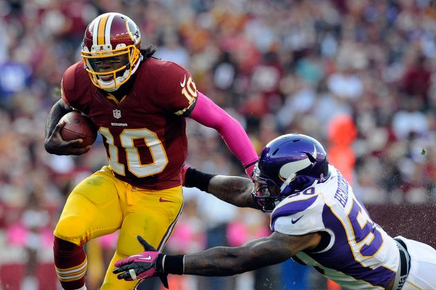 Robert Griffin III: Projecting How Redskins QB Will Fare vs. Giants in Week 7