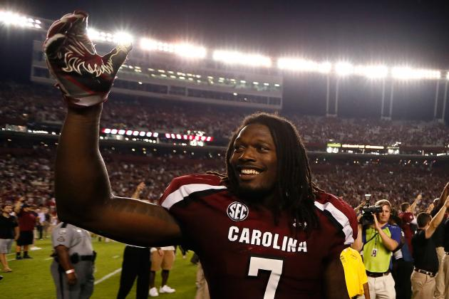 South Carolina's Jadeveon Clowney and Shaq Wilson, the Nation's Top 1-2 Punch?