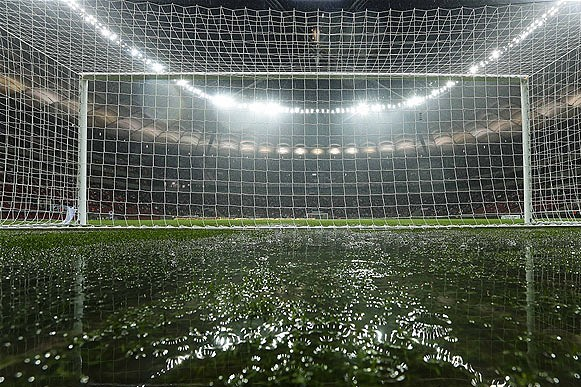 Poland V England: Roy Hodgson Worried Waterlogged Pitch Is Still Unplayable
