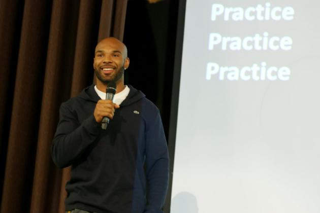 Chicago Bears' Matt Forte Lives the Words He Uses to Encourage High School Kids