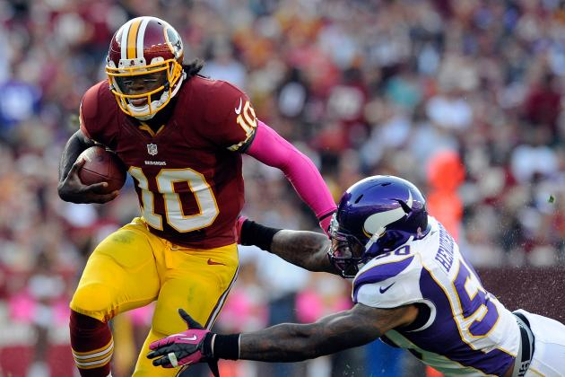 Robert Griffin III: Realistic Fantasy Projections for Redskins QB vs. Giants