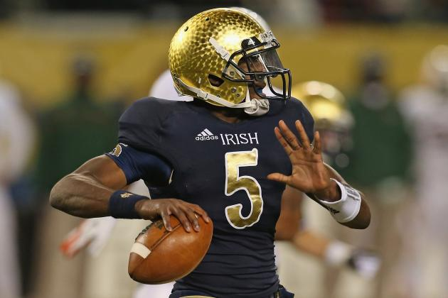 Notre Dame QB Golson Cleared to Practice Wednesday
