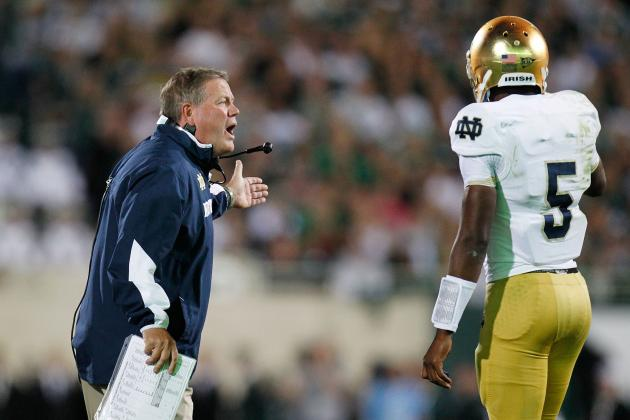 Notebook: Notre Dame's Kelly Explains Quarterback Plan