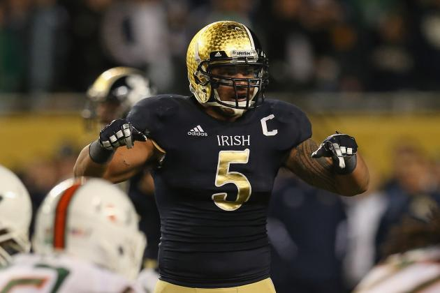 Manti Te'o, Irish Keep Climbing