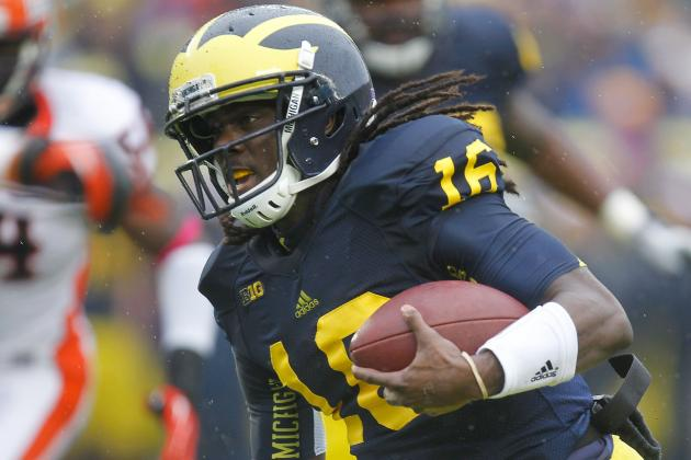 Michigan QB Denard Robinson Will Coast vs. Michigan State's Run Defense