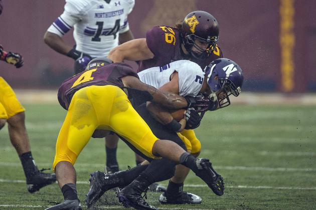 Gophers' Spotty Run D Prepares for Ball, Badgers