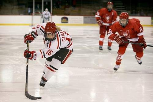 Kelly Sabatine's Hat Trick Helps St. Lawrence in Overtime Win vs. McGill