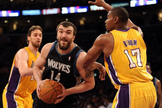 Kevin Love's Broken Hand Opens Door for Nikola Pekovic to Become Elite Center