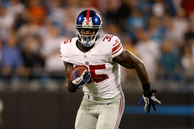 Andre Brown: Forecasting the Best- and Worst-Case Fantasy Scenario for Giants RB