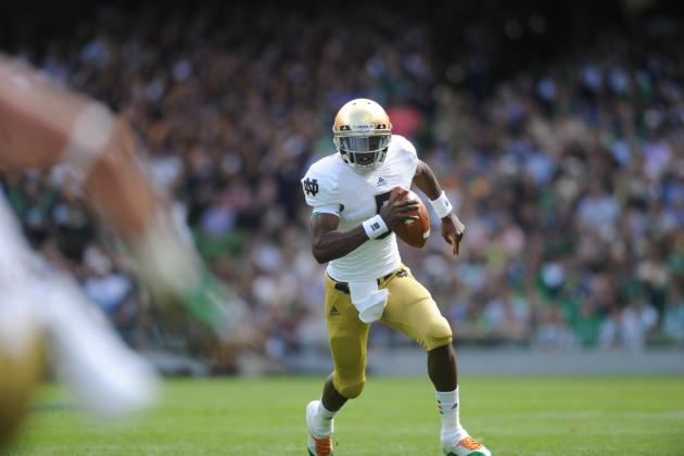 Irish QB Golson Game-Time Decision vs. BYU