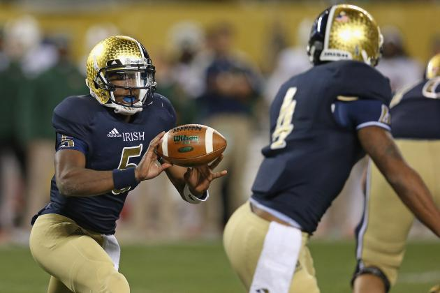 BYU vs. Notre Dame: Irish Better Hope Everett Golson Starts and Finishes at QB