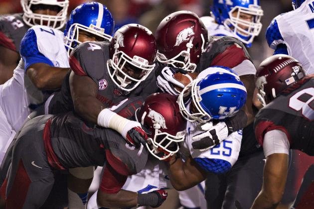 Scheme Same, Production Changing for Arkansas' Defense