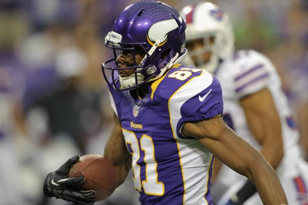 Jerome Simpson will get the start for Minnesota Vikings on Sunday