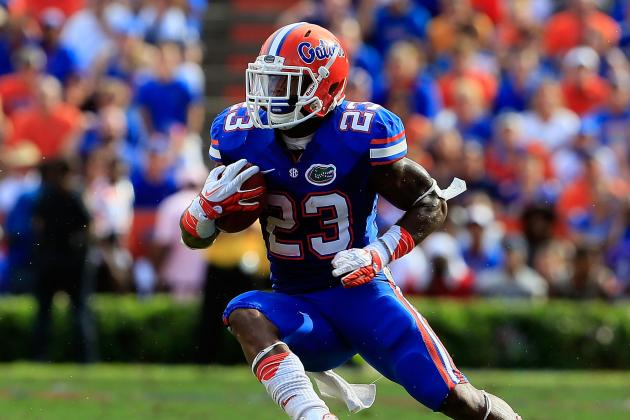 South Carolina vs. Florida: Gators Running Game Will Decide the Outcome
