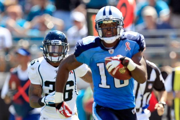 Kenny Britt: Why Tennessee Titans' WR Is a Fine Fantasy Option in Week 7