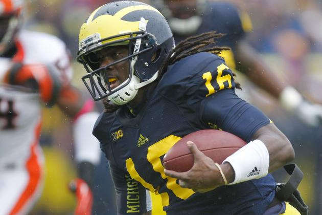 Michigan Football: Denard Robinson Will Lead Wolverines to Paul Bunyan Trophy