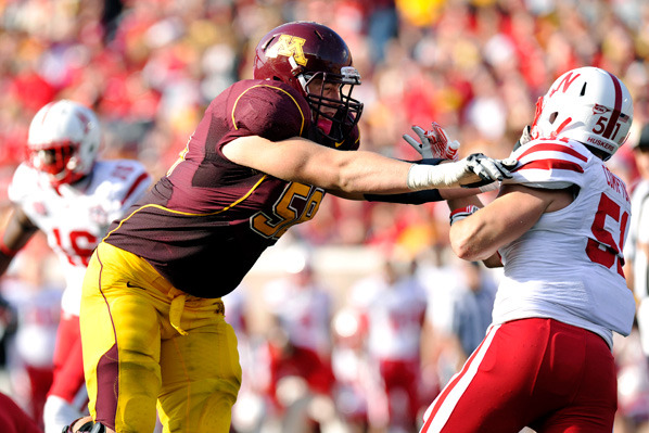 LT Ed Olson out vs. Wisconsin Due to Lower Leg Injury