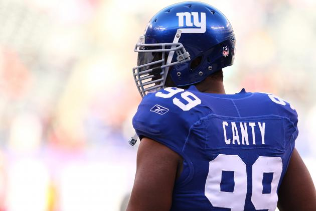 Giants Activate DT Chris Canty from PUP List; RB Da'Rel Scott Placed on IR