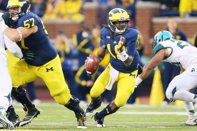 Michigan State vs. Michigan: Denard's Revenge Keeps UM's Rose Bowl Dream Alive