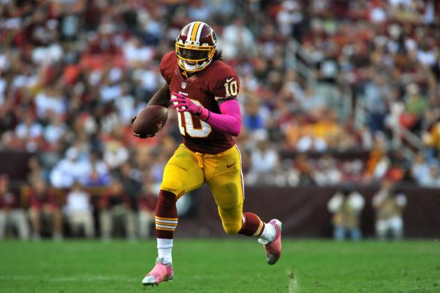 Robert Griffin III: Fantasy Owners Should Be Cautious in Week 7 vs. Giants