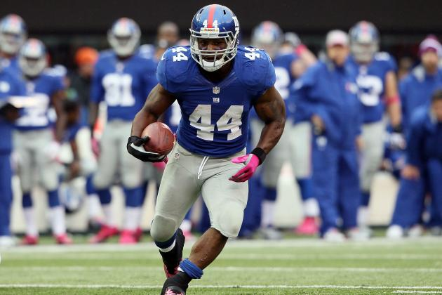 Ahmad Bradshaw: Fantasy Expectations for Giants RB vs. Redskins in Week 7