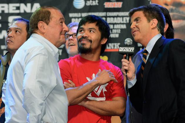 Manny Pacquiao: Bob Arum's Excuses Will Crush Title Fight with Floyd Mayweather