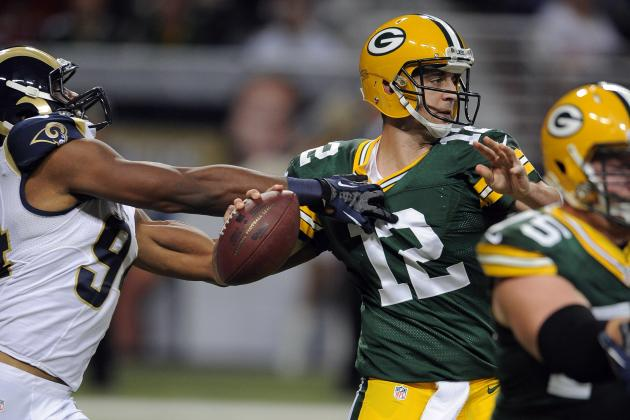 Rodgers has 3 TDs as Packers upend Rams