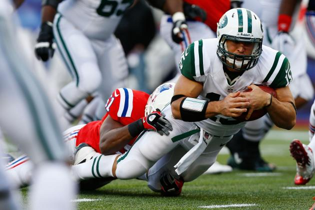 Tim Tebow: Backup QB Non-Factor in New York Jets' Loss to Patriots