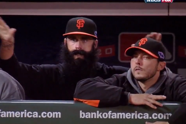 Brian Wilson Is Now Drumming On His Teammate's Heads
