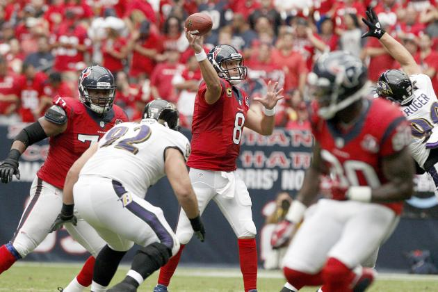 Houston Texans: Breaking Down Matt Schaub's Form at NFL Midseason Mark