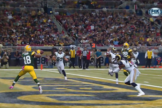 Packers vs Rams: Cobb's 1st TD Was the Tipping Point, Broke the Back of the Rams
