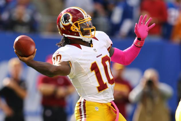 Robert Griffin III: Predicting Redskins Star's Week 8 Fantasy Stats vs. Steelers